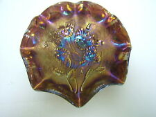 "Imperial Amethyst ""Pansy"" Ruffled Bowl 9"" diameter VGC"