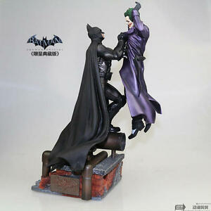 DC 1/4 Batman Arkham Statue Batman VS The Joker Collection Figures 199 Edition