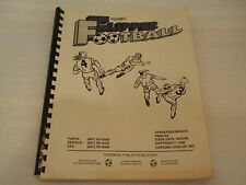 CAPCOM FLIPPER FOOTBALL FULL PINBALL MACHINE ORIGINAL INSTRUCTION MANUAL!