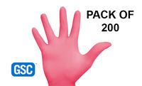 Nitrile Coral Powder Free Red Gloves - With Aloe and Vit E - Box of 200