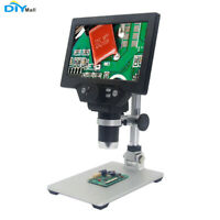 1-1200X G1200 Digital Microscope 7inch HD LCD Display 12MP Magnifier SMT solder