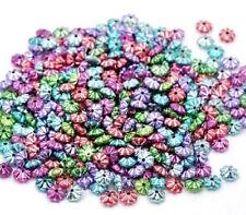 150 perles intercalaire acrylique soucoupe couleur multicolore  6 x 3 mm