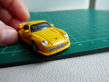 Cararama Detailed 1:72 Mini Porsche 911 GT Turbo Yellow Diecast Toy Car 00 Gauge