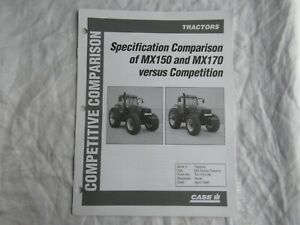 Case CASEIH MX150 MX170 vs John Deere 7710 AGCO 9735 White 8310 brochure