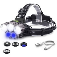 90000LM 5X XM-L T6 LED Headlamp Head Light Flashlight Rechargeable Torch Lamp C
