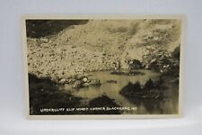 Isle of Wight.  Undercliff Slip Windy Corner Blackgang Real Photograph. Postcard