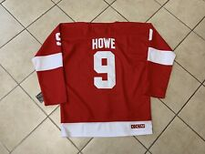 1cabe8e22 Vintage NHL Detroit Red Wings Gordie Howe Hockey Jersey Red