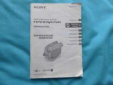 Cámara De Vídeo Grabadora Digital Sony handyicam guía de funcionamiento 2-659-812-11 (1)