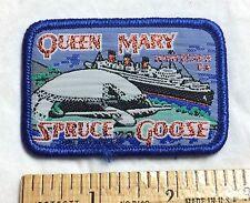 Queen Mary Cruise Ship Boat Spruce Goose Dome California Souvenir Woven Patch