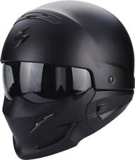 SCORPION Combate Negro Mate STREETFIGHTER 2in1 Casco de MOTO - Medio