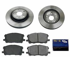 Front Ceramic Brake Pad Set & Rotor Kit for 2009-2012 Toyota Rav4 L4 2.5L
