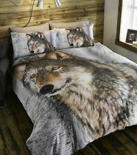 E-James Superking Size Wolf Duvet Quilt Cover 3D Animal Bedding Set ~ ONLY £9.99