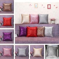 Glitter Sequins Throw Pillow Case Home Car Decor Waist Cushion Cover 40*40cm