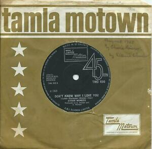 Stevie Wonder:Don't know why I love you/My cherie amour:UK Tamla Motown:TMG 690