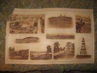 HUGE ANTIQUE 1891 NASHVILLE LOOKOUT MOUNTAIN TENNESSEE VIRGINIA CIVIL WAR PRINT