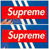 LARGE Supreme Stickers/Decals/Red Vinyl/Laptop/Skateboard - Brand New