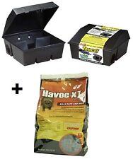 (2) Motomco 33450 Tomcat Empty Rat Bait Stations + (1) 8 lb Ramik Havoc-Xt Bait