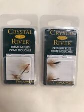 2-Crystal River Trout Flies Buck Caddis Dark Size 12 - Prime Mouches