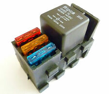 5 pin relay base with 3 x built-in standard size blade fuse holders     ALT/RELF