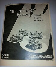 NEW WHEEL HORSE B C & D SERIES MANUAL NICE  D-200 D-160 B-81 C81 C141