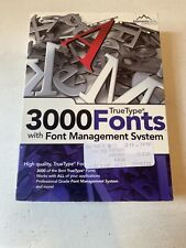TrueType - 3000 Fonts  with Font Management System CD Software - Windows PC