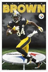 ANTONIO BROWN - PITTSBURGH STEELERS POSTER - 22x34 NFL FOOTBALL 15507