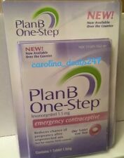 NEW Plan B Emergency Contraceptive One Step Pill Levonorgestral SHIPS WORLDWIDE