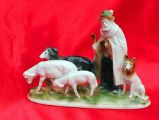 Wagner Apel porcelain German Shepherd Man herding Sheep dog Belgian Tervuren*