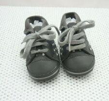 Orchestra chaussons bébé tissu gris pois argentés taille 19
