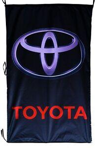 TOYOTA-FLAG BLACK VERTICAL BANNER 5 X 3 FT 150 X 90 CM