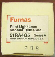 SIEMENS FURNAS Standard Blue Glass Guarded Pilot Light Lens 51RA4G5