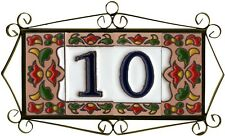 Spanish Chilli Hand-painted Ceramic Tiles For House Numbers, Letters and Frames