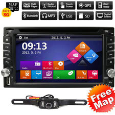 """NEW 6.2"""" Car STEREO DVD CD BLUETOOTH WITH FREE BACK UP CAMERA GPS NAVIGATION MAP"""