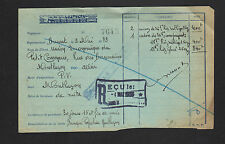 """GRENOBLE (38) PATES ALIMENTAIRES """"LUSTUCRU"""" illustré TRAIN en 1933"""