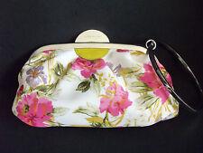 KAREN MILLEN floral bracelet handle CLUTCH purse evening bag small w/ dust cover