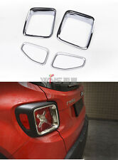 For Jeep Renegade 2016-2017 Chrome Taillight Trims Car Styling Accessory 4pcs