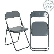 Chaise pliante rembourré cadre en métal - Gain de place Gris x6