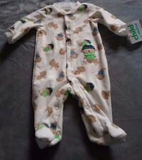 NEW CARTER'S Baby Unisex Clothes New Born Soft Fleece Monkey Pajama Sleeper