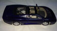 Maisto Jaguar XC220 Metallic Blue 1:18 Scale Replica Diecast Car Used 14+ 10x4x3