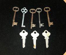 Lot of 8 VINTAGE KEYS Skeleton LOCK DOOR ANTIQUE Corbin ilco