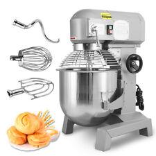 30qt 24hp Commercial Pizza Dough Mixer Food Blender Stirrer Bakery 3 Tools