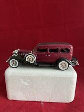 N97 1932 Cadillac 4 Door Hardtop National Motor Museum Mint Maroon