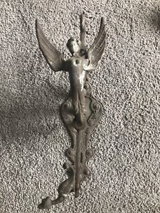 Vintage Beautifully Aged Cooper Doorbell With Angel And Separate Bell