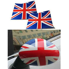 A Pairs Union Jack UK Flag Vinyl Stickers For BMW Mini Cooper Mirror Covers