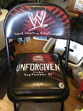 Wwe Wwf Unforgiven Giant Center Ppv Ringside Padded Steel Chair