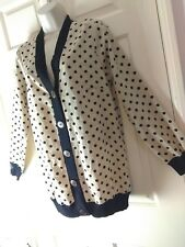 Darling spotty thin long button down cardigan shacket Medium UK 12 mink black