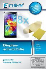 8x Samsung Galaxy S5 / S5 Neo Schutzfolie klar Displayschutzfolie klare Folie