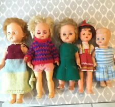 Vintage Dolls Made In England Italy Soft Plastic Face Hard Plastic Body Job lot