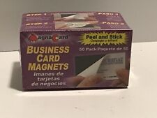 MAGNA CARD Self-adhesive Peel-and-Stick Business Card Magnets -50ct