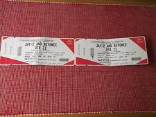 JAY-Z AND BEYONCE used tickets X2,6TH JUNE 2018,PRINCIPALITY STADIUM,CARDIFF,(7)